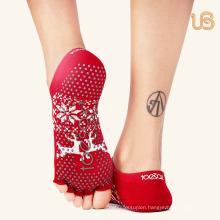 Professional Anti Slip Yoga Sock with Toe Open