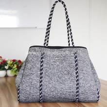 Luxury neoprene beach handle tote bags for girls