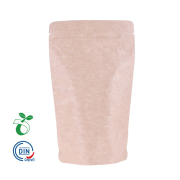 PLA Stand-Up Pouch Kraft Valve Bolsas de café biodegradables