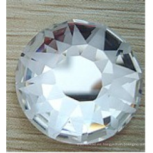 Ronda de vidrio plano trasero cuentas de piedras helado