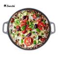12/14 Zoll Vorgewürzte Gusseisen Runde Pizza Pan
