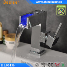 Water Powered LED Waterfall Basin Faucet