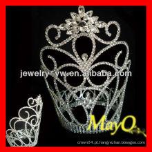 Floco de neve Grande coroa de tiara de cristal alto