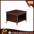Steel base walnut small MDF coffee tea table