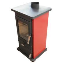Freier stehender hölzerner brennender Ofen, Stahlofen (FL005R)