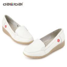 Wholesale ladies dress shoes white leather nurse shoes