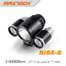 Maxtoch BI6X-2 1400 lúmenes Cree XM-L bicicleta luz T6