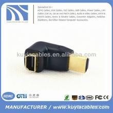 HDMI femelle à mâle F / M Connecteur de changeur d'adaptateur à couple de 90 degrés