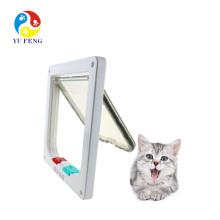 Patte de chat à verrouillage à 4 voies Cat Mate avec doublure de porte Rabat à chat de verrouillage à 4 directions Cat Mate blanche avec doublure de porte blanche