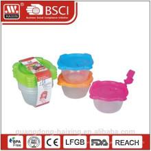 Пластиковый микроволновой продовольствия контейнер 0.14L(4pc)