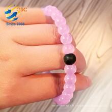 Perles de logo personnalisables les plus populaires bracelet de perle de silicone de haute qualité