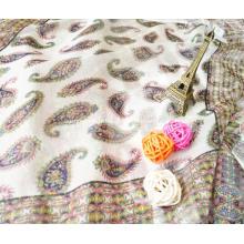 Rome Journal of rein bean mode couleur soie mousseline de soie tissu mince écharpe robe bricolage sur mesure tissu