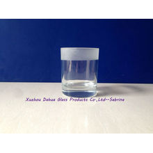 Clear and Frosted Glass Candle Holder