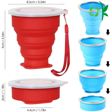 Amazon Hot Sale tasse de voyage pliable en silicone