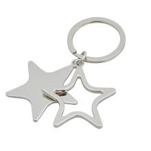 Corrente chave da forma da estrela, anel chave oco (GZHY-KA-030)