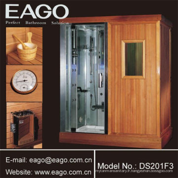 Sauna infrarouge lointain avec douche à vapeur (deux en un)