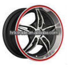 14 polegadas preto belas rodas de liga de cromo para toyota