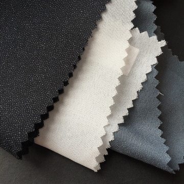 Poliéster Eco Friendly Microdot Woven Fusing Interlining
