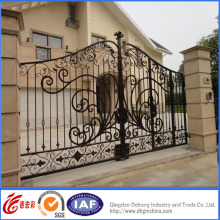 Elegant Simple Hot Galvanized Wrought Iron Residential Gate