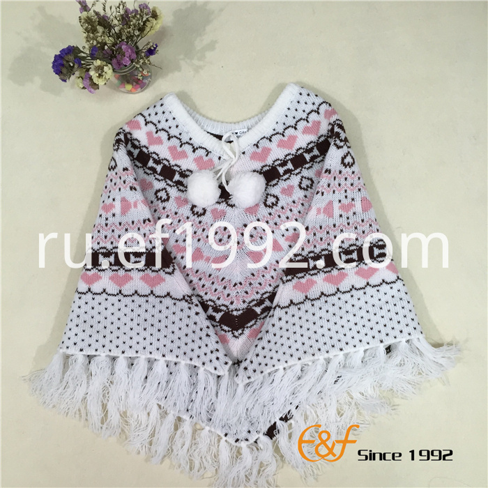 cotton acrylic jacquard sweater cloak