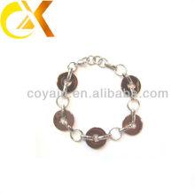Jóia de aço inoxidável interligando pulseira anel de ligação para a menina
