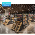 Fashion Shelves Wisda Commercial Shopping Gondola Wooden Fruit Vegetable Display Rack Supermarket Shelf
