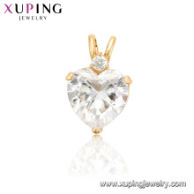 34224 xuping luxury simulation chrystal heart women pendant charms
