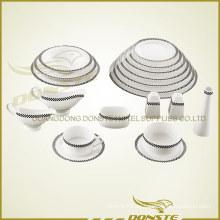 Bone China manchada de cerámica clásico conjunto de la red occidental