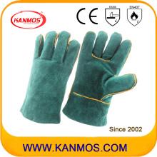 27cm cuero de vaca cuero dividido seguridad industrial guantes de trabajo de soldadura (111031-27)