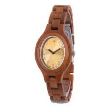Hlw068 homens do OEM e relógio de madeira das mulheres relógio de pulso de alta qualidade relógio de pulso de bambu