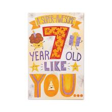 Carte d'anniversaire super géniale avec le papier glitter