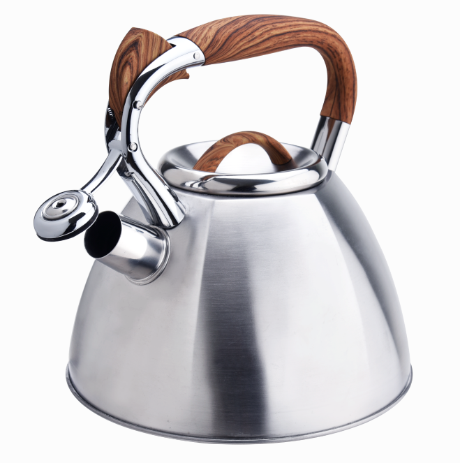 Stainless Steel Wooden Handle Stovetop Teapot 421