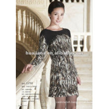 latest designs 100% pure cashmere sweater dresses for young ladies