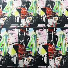 Digital Positioning Print Baumwollgewebe für Kleid / Bluse / Shirt