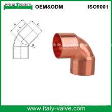 Coude de cuivre certifié CE de qualité supérieure de 45 degrés (AV8005)