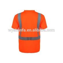 Отражающая безопасность футболка / защитная куртка футболка / предупреждающая одежда / защитный жилет