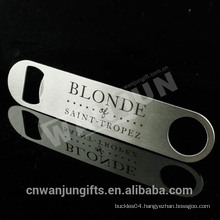 Metal stainless steel custom laser screen printing logo Blanks Bottle Opener Parts