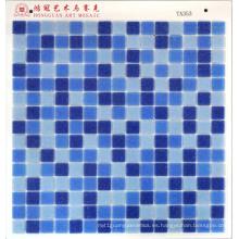 Mosaico de cristal azul DOT Precio barato 4USD por M2