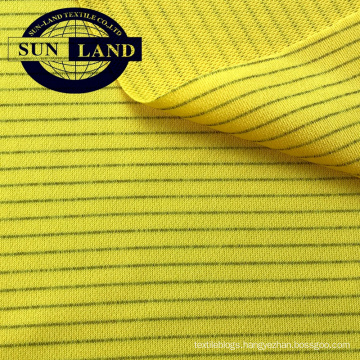 electronics worker uniform suit weft knitted 98.5 polyester 1.5 carbon anti-static pique fabric electronics worker uniform suit weft knitted 98.5 polyester 1.5 carbon anti-static pique fabric