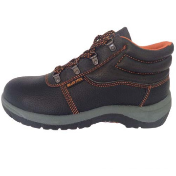 Sapato de segurança superior PU couro único trabalho de PVC