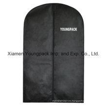 Custom Printed Black Non-Woven Travel Suit Bag