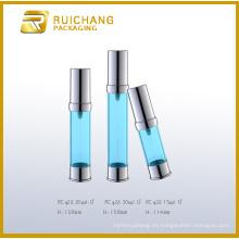 Nueva venta caliente azul de la botella airless de la alumina del diseño en Yuyao