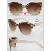 Gafas de sol plásticas vendedores calientes y de moda de las señoras (WSP601544)