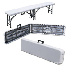 Garden Furniture 6ft Portable Plastic Folding Bench with 8 Steel Legs (HQ-ZD183)