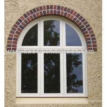 Fenêtres en verre fixes cintrées