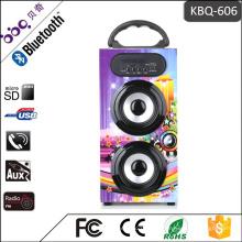 Tragbare Soundbox aus Holz Lautsprecher mit USB SD FM Radio