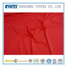 Traje de baño rojo Spandex 4 tramo de estiramiento tejido pesado