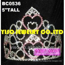 Encantadoras corazones rhinestone pageant tiaras