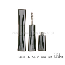 Double brushes mascara container empty flat mascara container double-ended mascara container