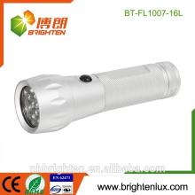 Factory Supply Cheap Aluminium 16 Led Mini torch Gift Cool super brillant lampe de poche led
